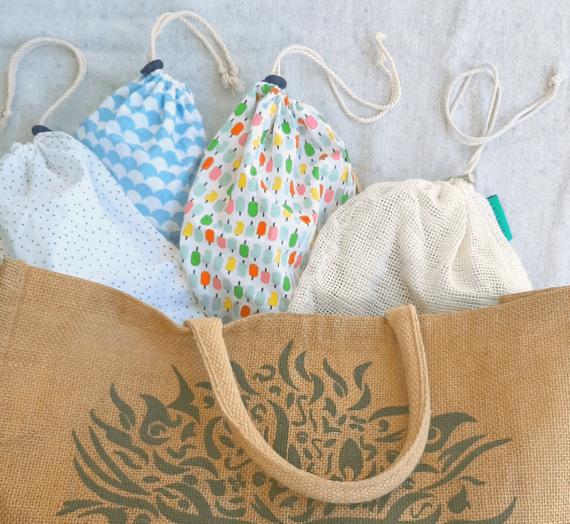 Se munir de sacs à vrac et de sacs à légumes
